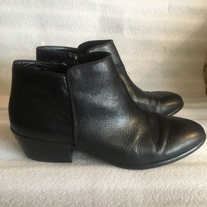 Sam Edelman black Leather Ankle Booties. Comfy.